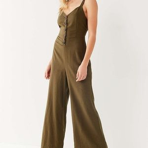 Urban outfitters button up jumpsuit